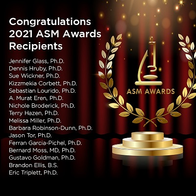 Congratulations to the 2021 ASM Award Recipients!