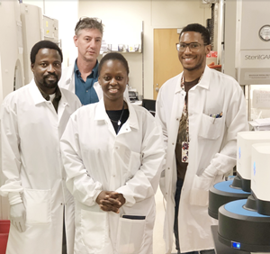 Some members of the evening and night shift clinical microbiology staff at Thomas Jefferson University Hospital.