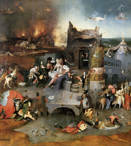 Figure 1. Ergotism is sometimes known as St. Anthony's fire, and is referenced in the central panel of the Triptych of Temptation of St Anthony, a painting by Hieronymus Bosch, c. 1505.