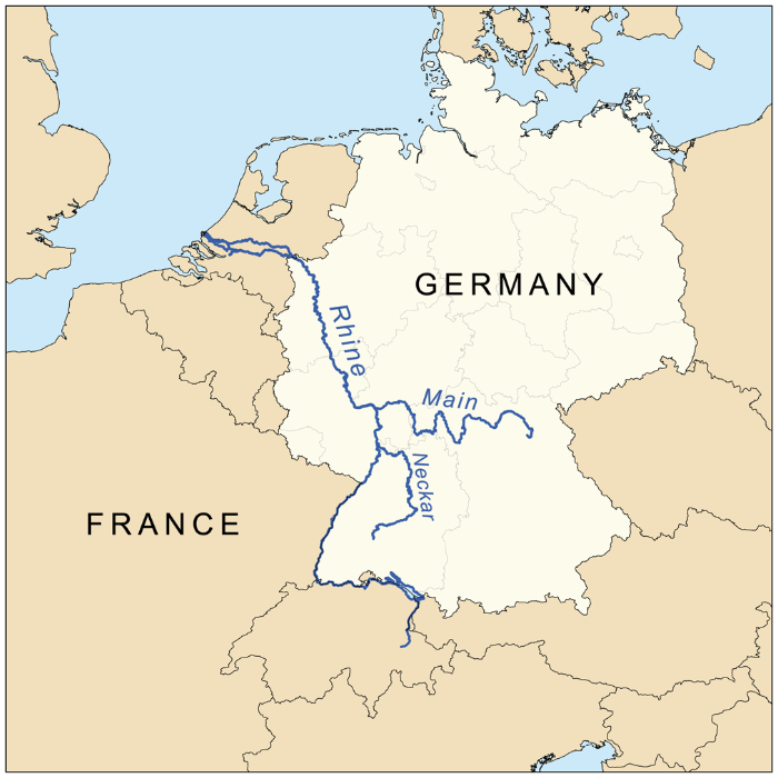 Figure 3. Ergotism symptoms varied according to whether they were on the east or west side of the Rhine river in Europe.