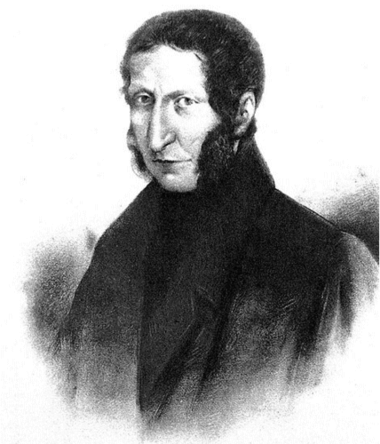 A sketch of the Italian entomologist Agostino Bassi, who developed the germ theory of disease in silkworms.