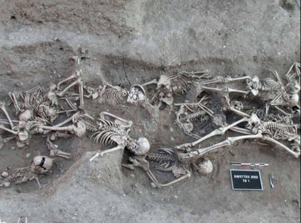 Figure 5: Bubonic plague victims discovered in a mass grave in Martigues, France