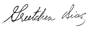 Greetchen Diaz' signature.