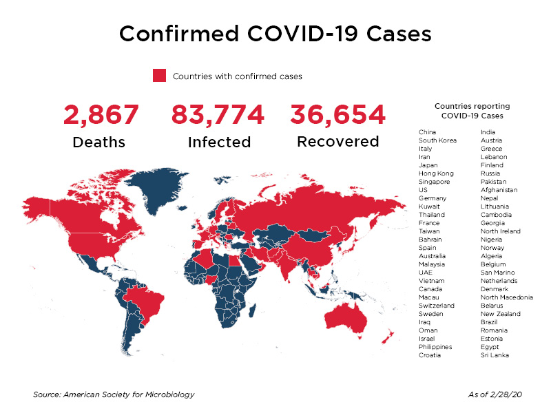 Image result for coronavirus countries infected