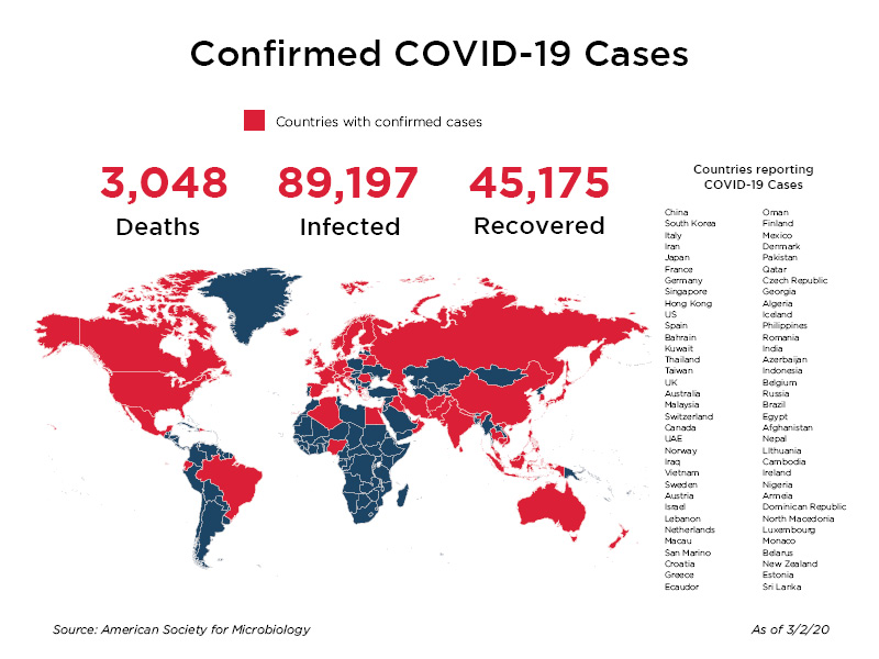 how many infected with coronavirus