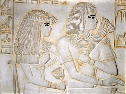 "Merit-Ptah (the first recorded scientist) and her husband. ""Merit-Ptah is not only the first female doctor known by name, but the first woman mentioned in the study of science."""