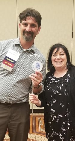 Image of Jaclyn Madden (2019 ASMCUE Chair) and Dr. John Buchner, Vice Chair of the ASMCUE 2020 Planning Committee.